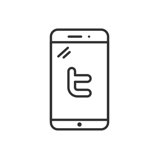 logo, mobile, phone, twitter icon