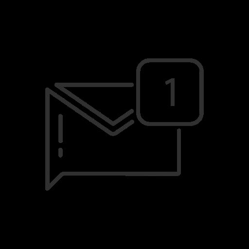 inbox, message, notification, twitter icon