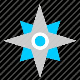 compass, location, navigation, ways icon