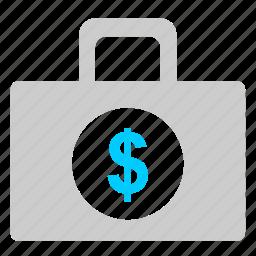 bag, case, diplomat, money, usd icon