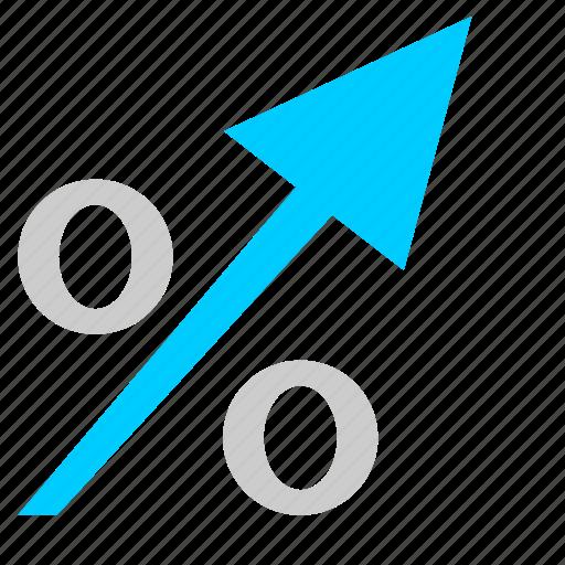 arrow, economic, grow, percent, statistics icon
