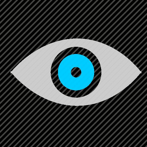 biometric, eye, identity, pupil icon