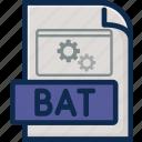 batfile, document, file, file format, file type, folder, type icon