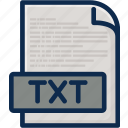 data, document, file, folder, page, text, type icon