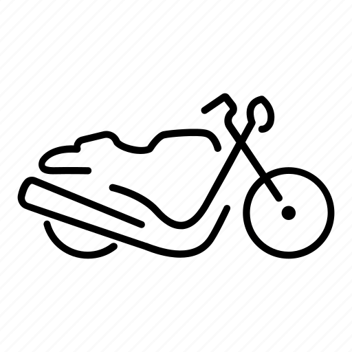 cafe, motorbike, motorcycle, racer, retro, side, view icon