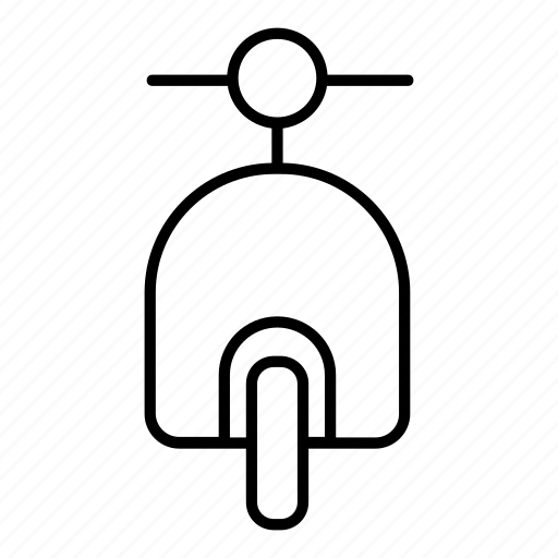 front, motorbike, motorcycle, scooter, view icon
