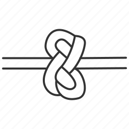 cord knot, knots, nautical, rope, types icon
