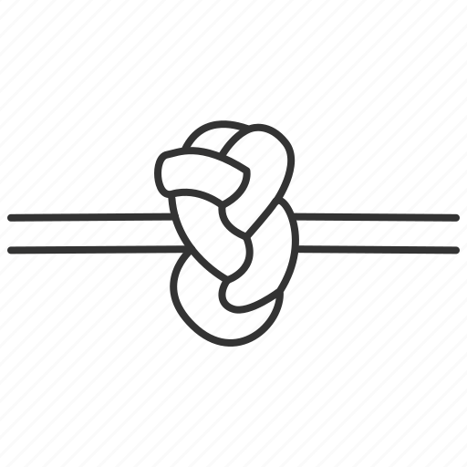 knots, nautical, rope, turkish knot, types icon