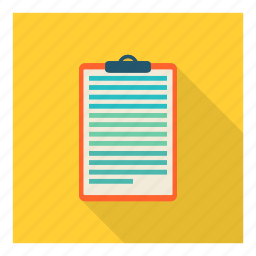 clipboard, inventory, notes, pad, scribble, text, write icon