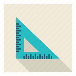 education, engineering, math, measure, ruler, science, student icon