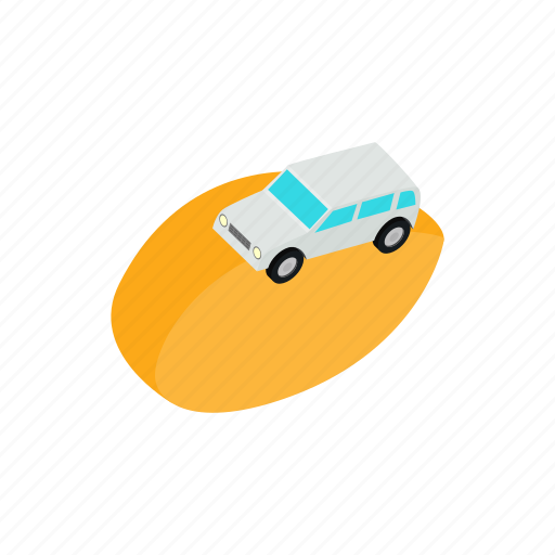 adventure, car, desert, isometric, rally, sport, transport icon