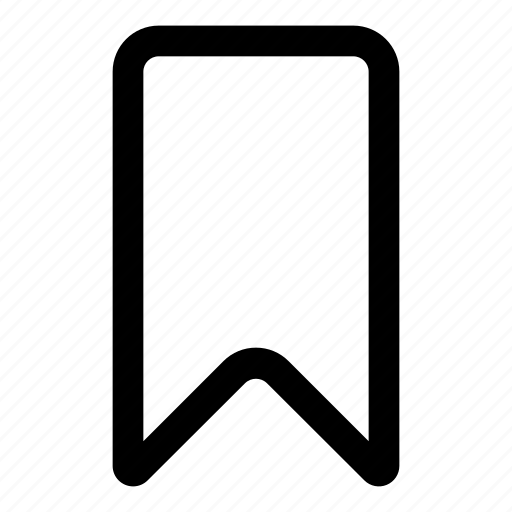 bookmark, favorite, flag, marking, ribbon icon