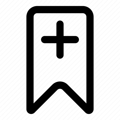 add, bookmark, flag, marking, plus icon