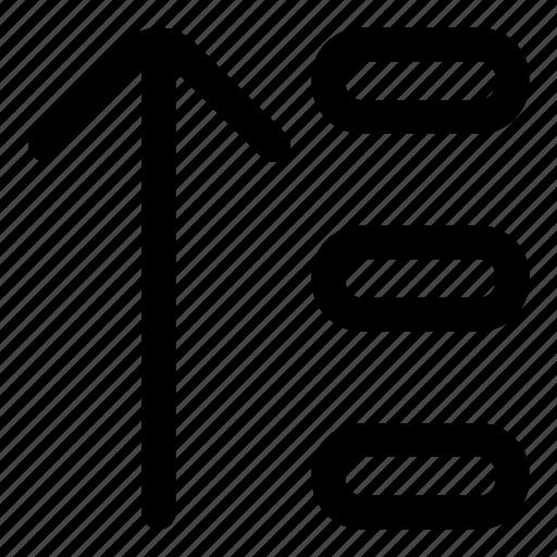 arrange, order, sort, up icon