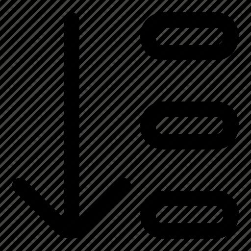 arrange, down, order, sort icon