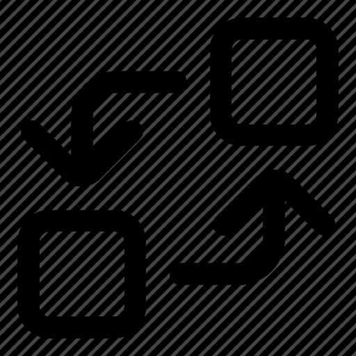 exchange, interchange, rotate, swap, transfer icon