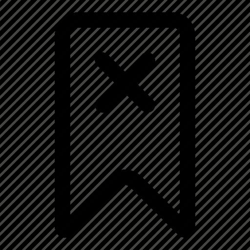 bookmark, delete, flag, marking icon