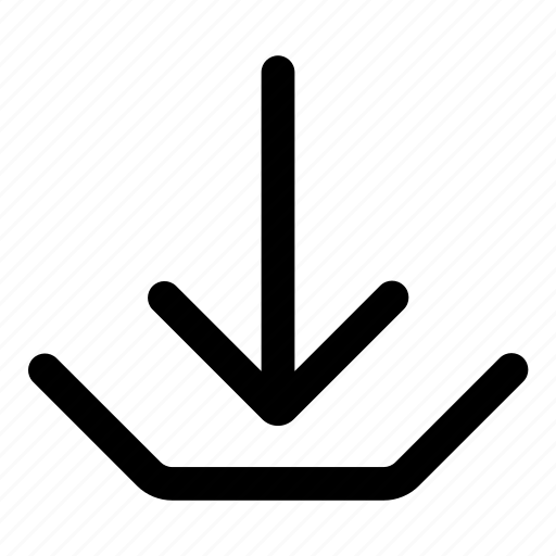 arrow, direction, down, download, import icon