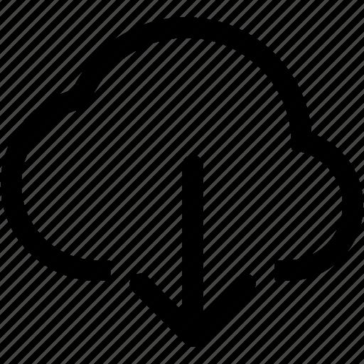 cloud, data, download, internet, server, storage icon