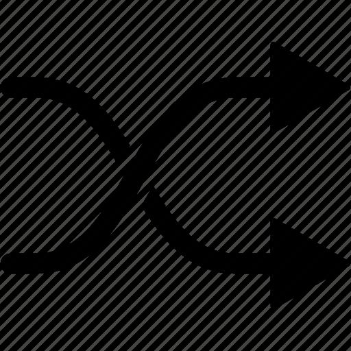 arrows, control, media, mixed, random, randomize icon