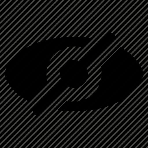 eye, invisible, ui, ux, web, website icon