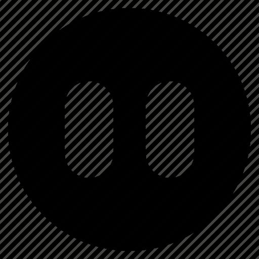 pause, ui, ux, web, website icon