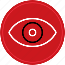 eye, eyeball, find, look, search icon