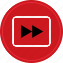 fast, forward, listen, music, play, video icon
