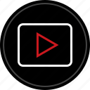 media, music, tube, video, you, youtube icon