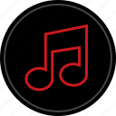 art, listen, media, music, play icon