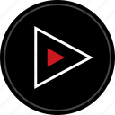 media, music, nav, navigation, play, video icon