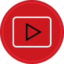 media, play, tube, video, you, youtube icon