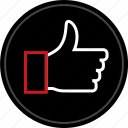 approved, good, ok, thumbs, up icon