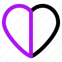arrow, heart, interaction, interface, user icon