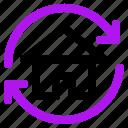 arrow, home, interaction, interface, user icon