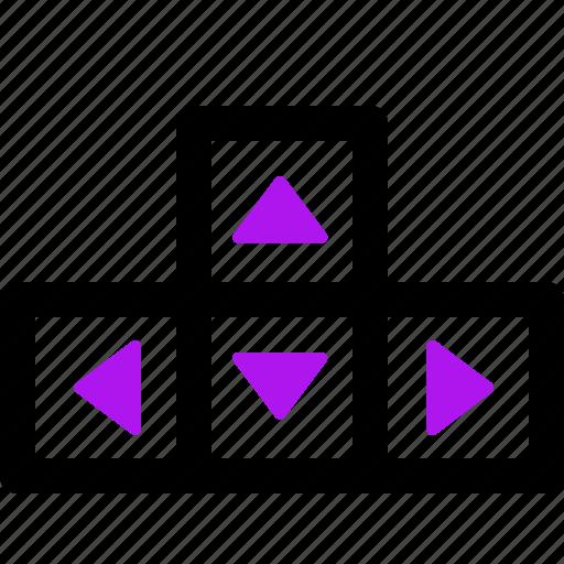 arrow, interaction, interface, keys, user icon