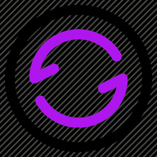 arrow, interaction, interface, refresh, user icon