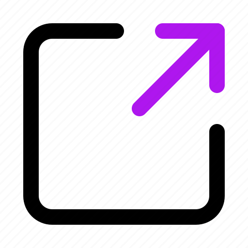 arrow, interaction, interface, share, user icon