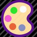 arrow, interaction, interface, paint, user icon