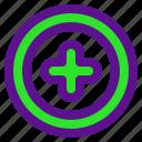 arrow, interaction, interface, plus, user icon