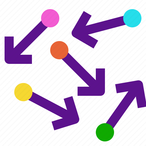 arrow, interaction, interface, random, user icon