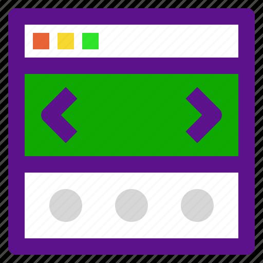 arrow, interaction, interface, slider, user icon