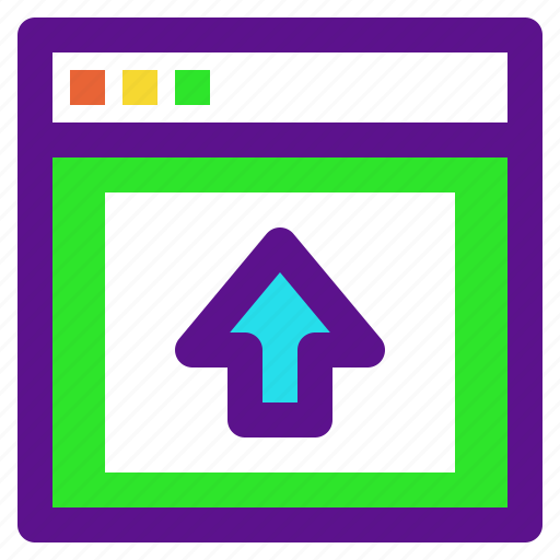 arrow, interaction, interface, upload, user icon