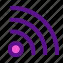 arrow, interaction, interface, user, wifi icon