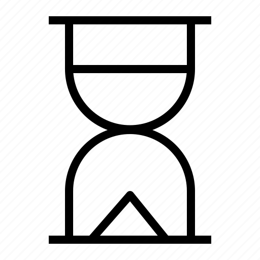 clock, hourglass, sand, timer, watch icon