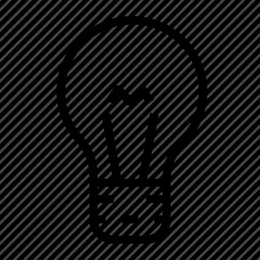 bulb, concept, idea, lamp, light icon