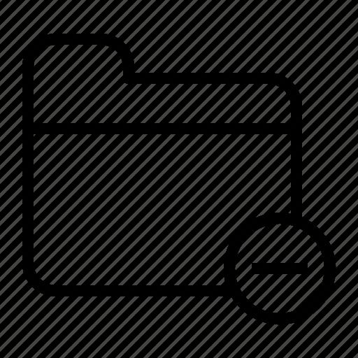 data, document, file, folder, minus icon