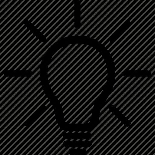 bulb, creative, creativity, idea, light, lightbulb icon