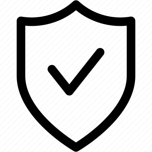 check, protection, safe, safety, secure, security, shield icon