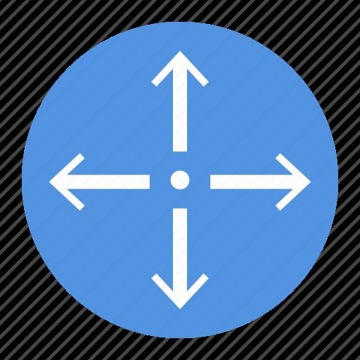 arrow, circle, point, roading, ui icon